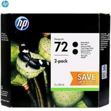 惠普(HP)P2V33A 72MK 消光黑色打印机墨盒 双包装(适用 HPT610 T770 T790 T795) 黑色